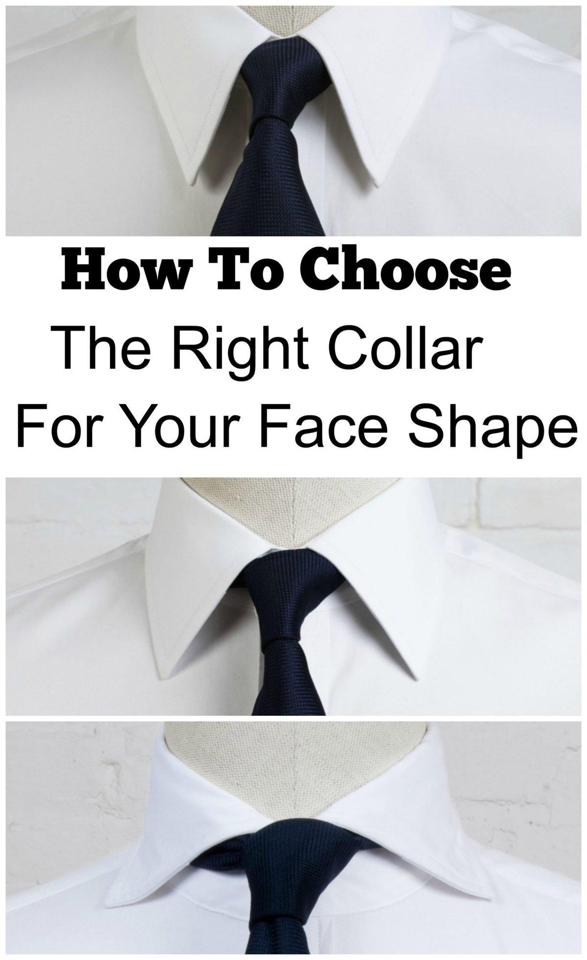 shirt collar and face shape