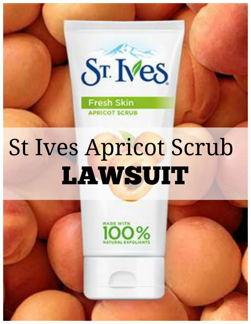 St Ives Apricot Scrub Lawsuit