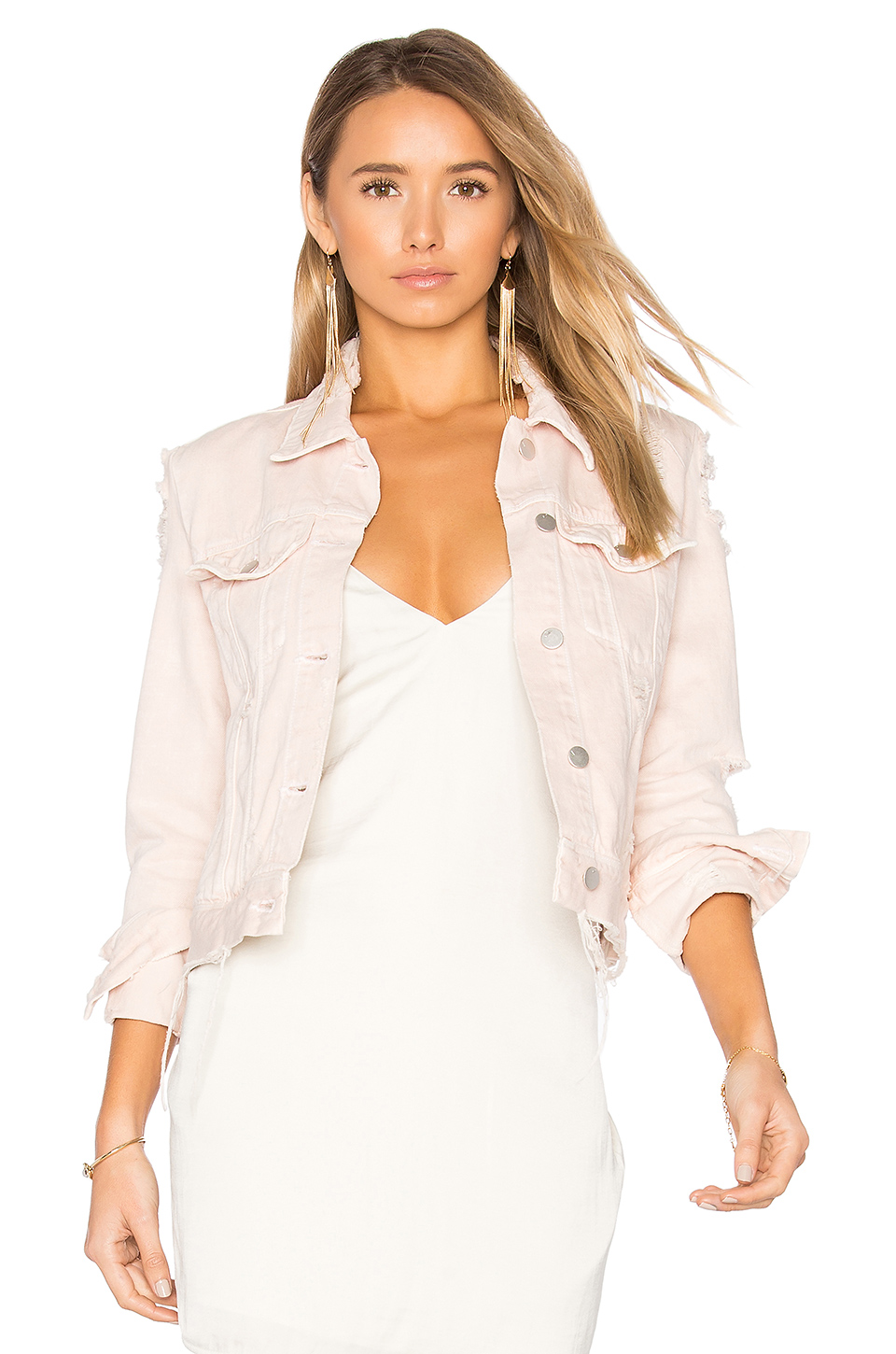 jbrand pink denim jacket