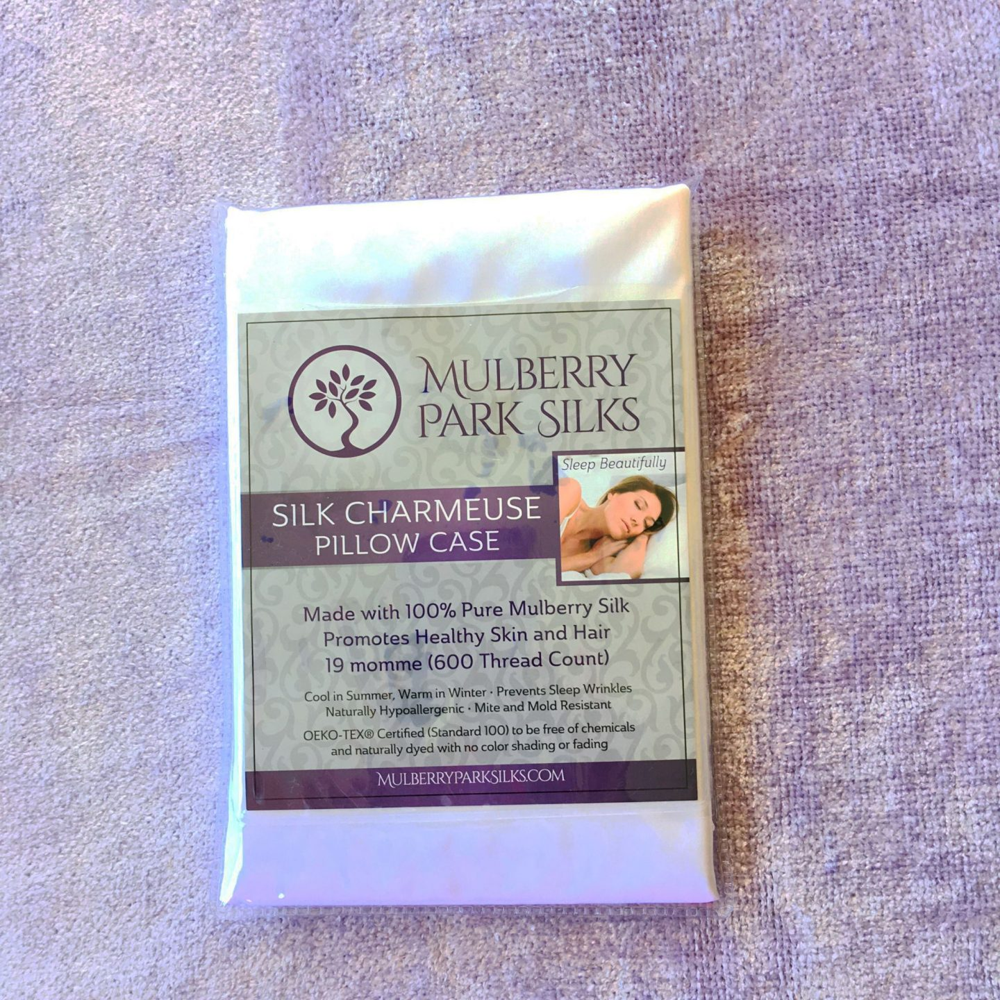 Mulberry 100% Pure Silk Pillowcase