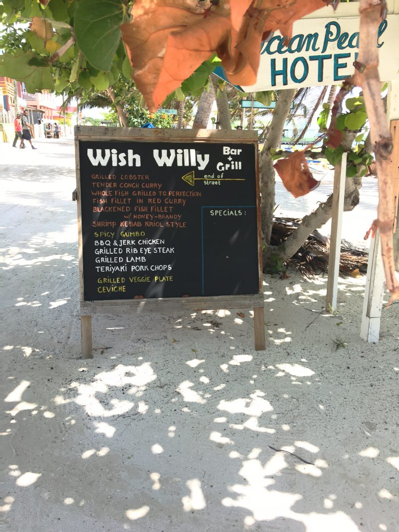 wish willy caye caulker belize