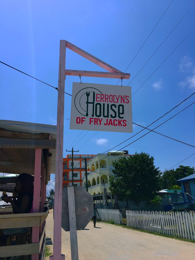 Errolyn's Fry Jacks Caye Caulker