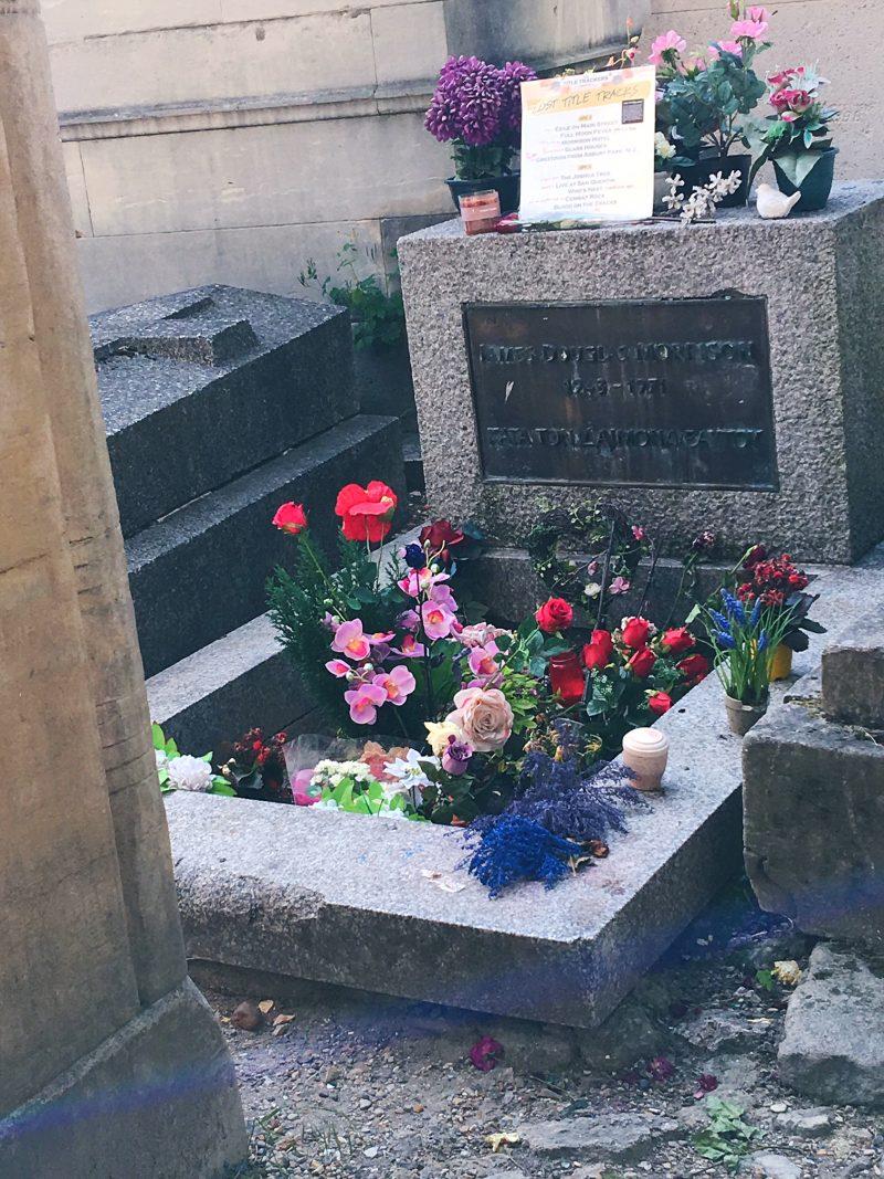 Jim Morrison's Grave, Pere Lachaise Cemetery, Paris