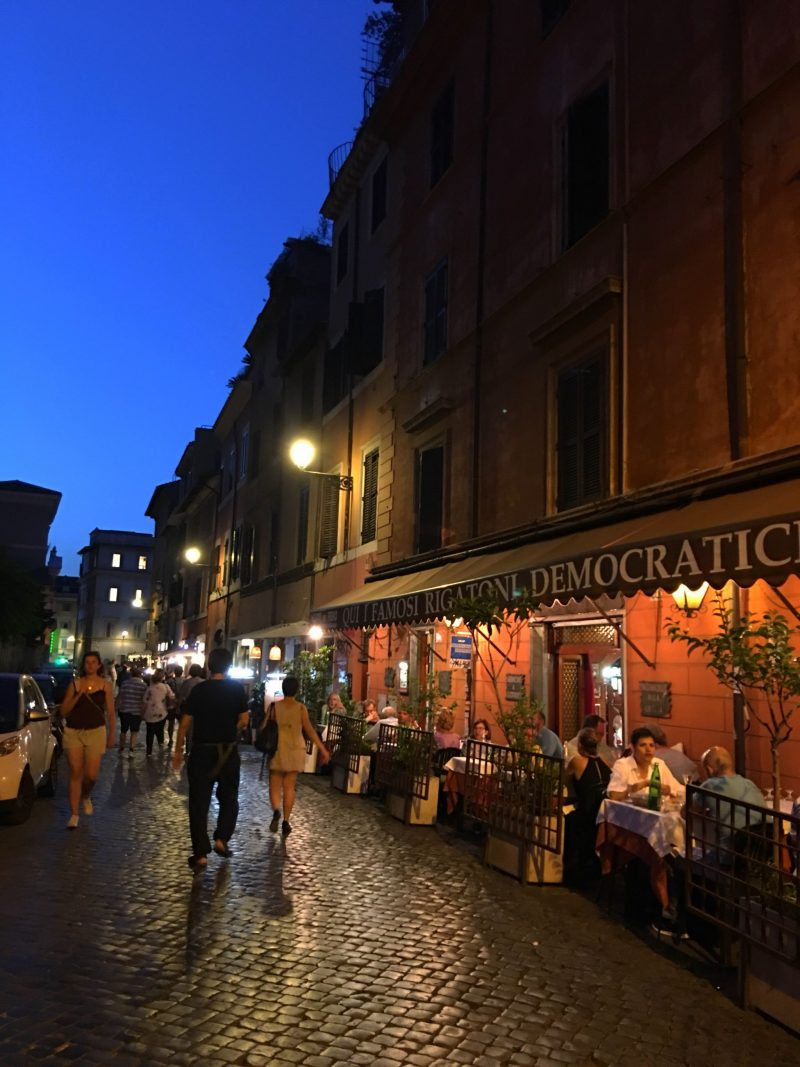 trastevere at night