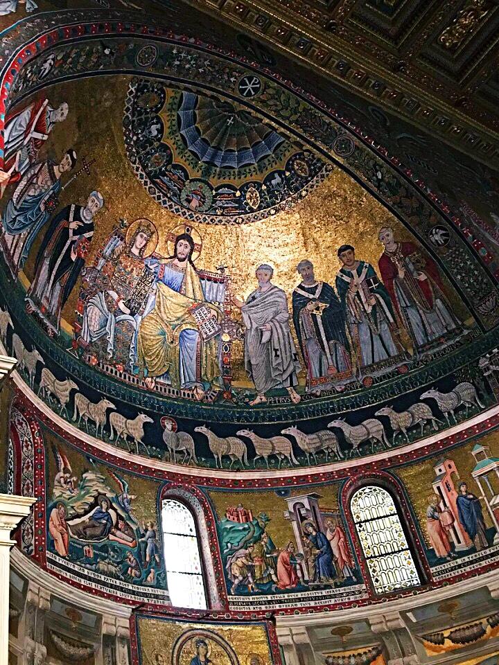 mosaic ceiling Santa Maria in Trastevere