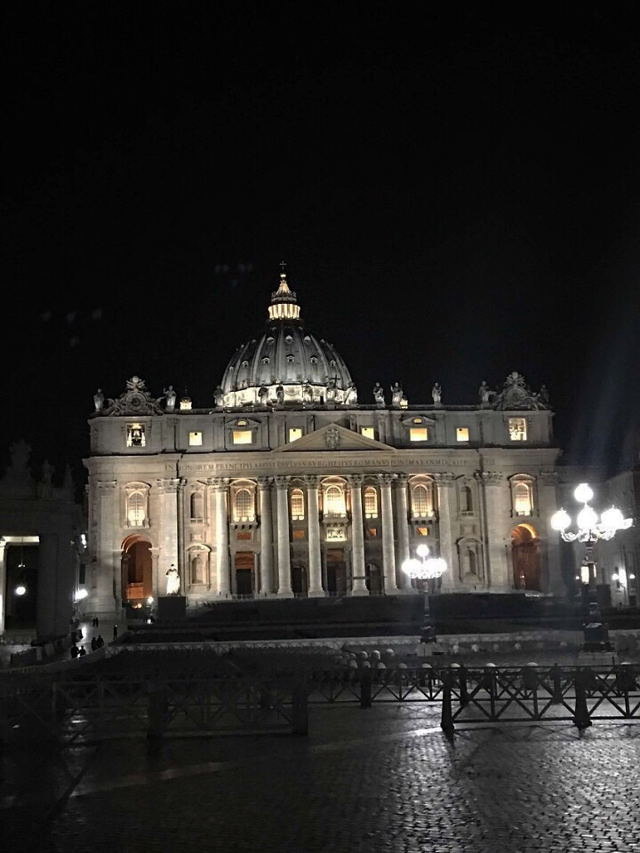 St Peters at night