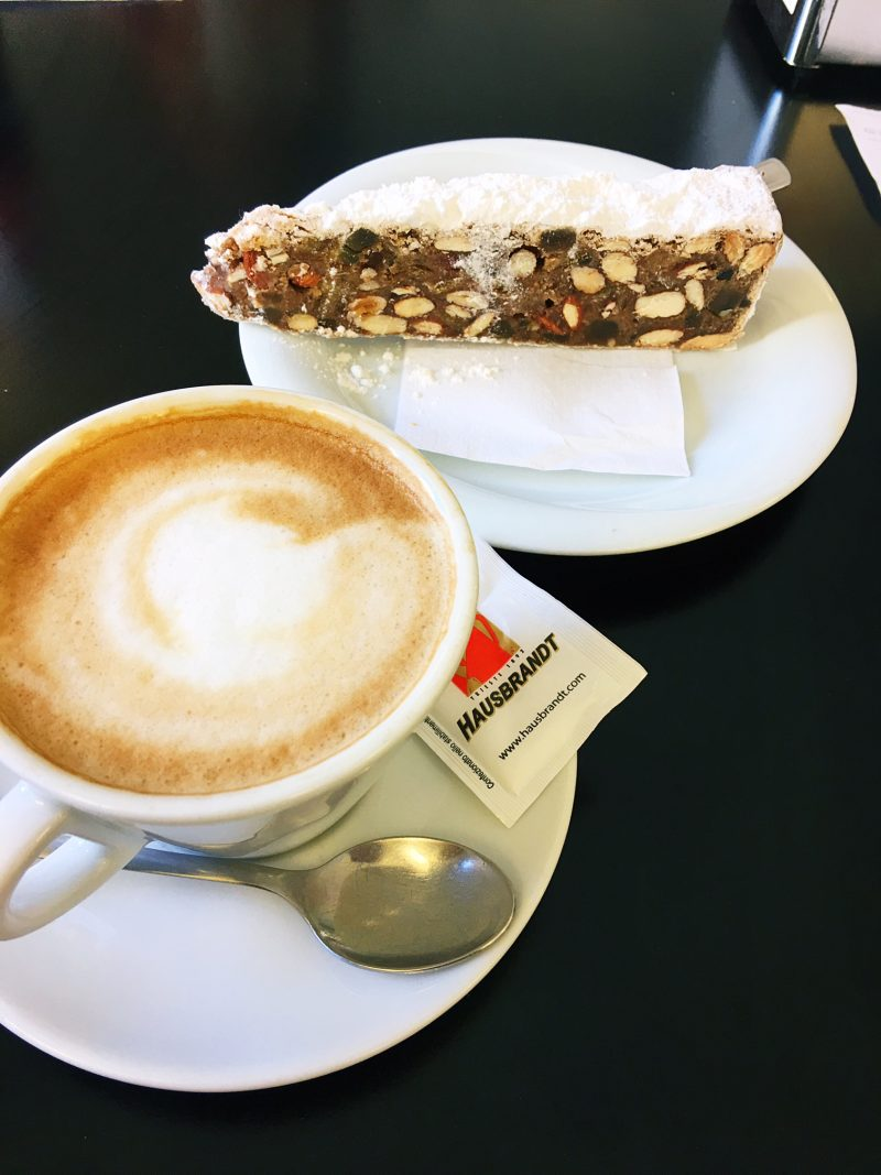 cappuccino and panforte