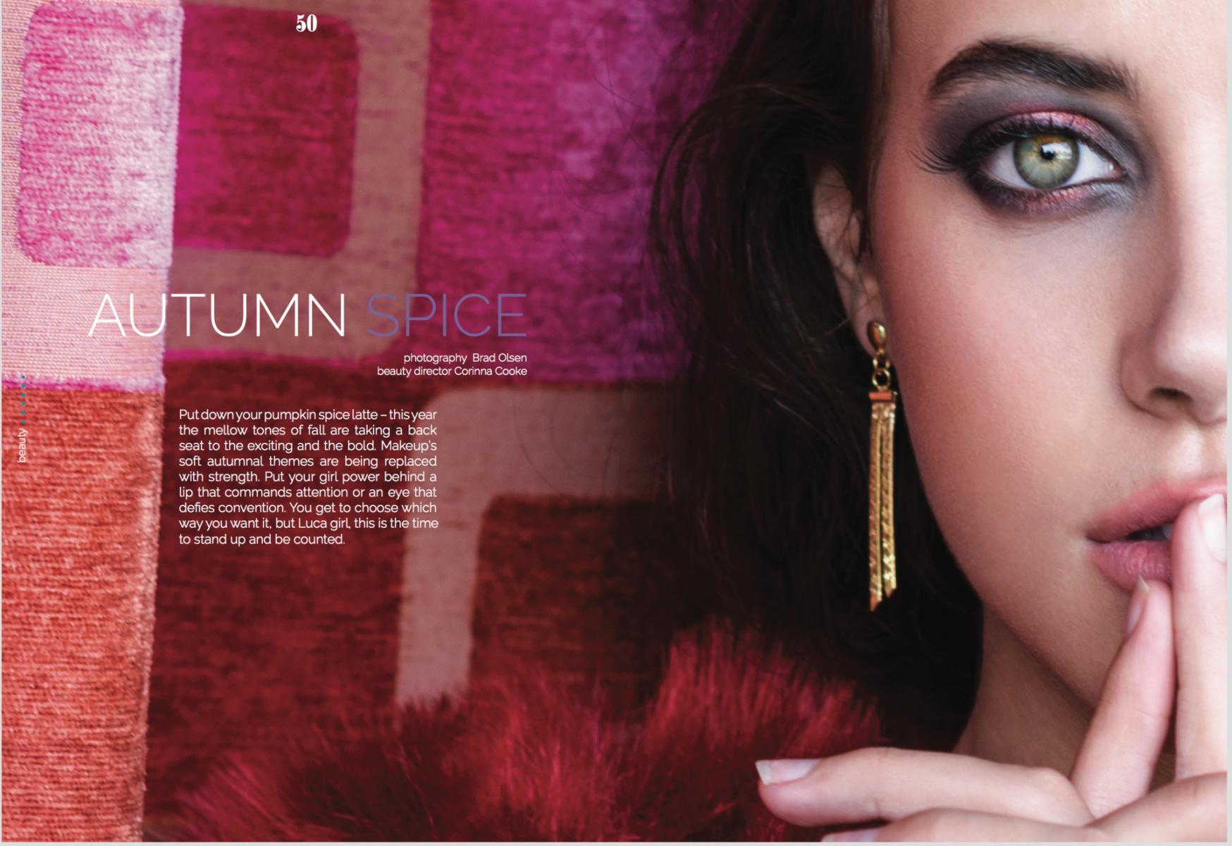 fall makeup trends metallic jewel tones