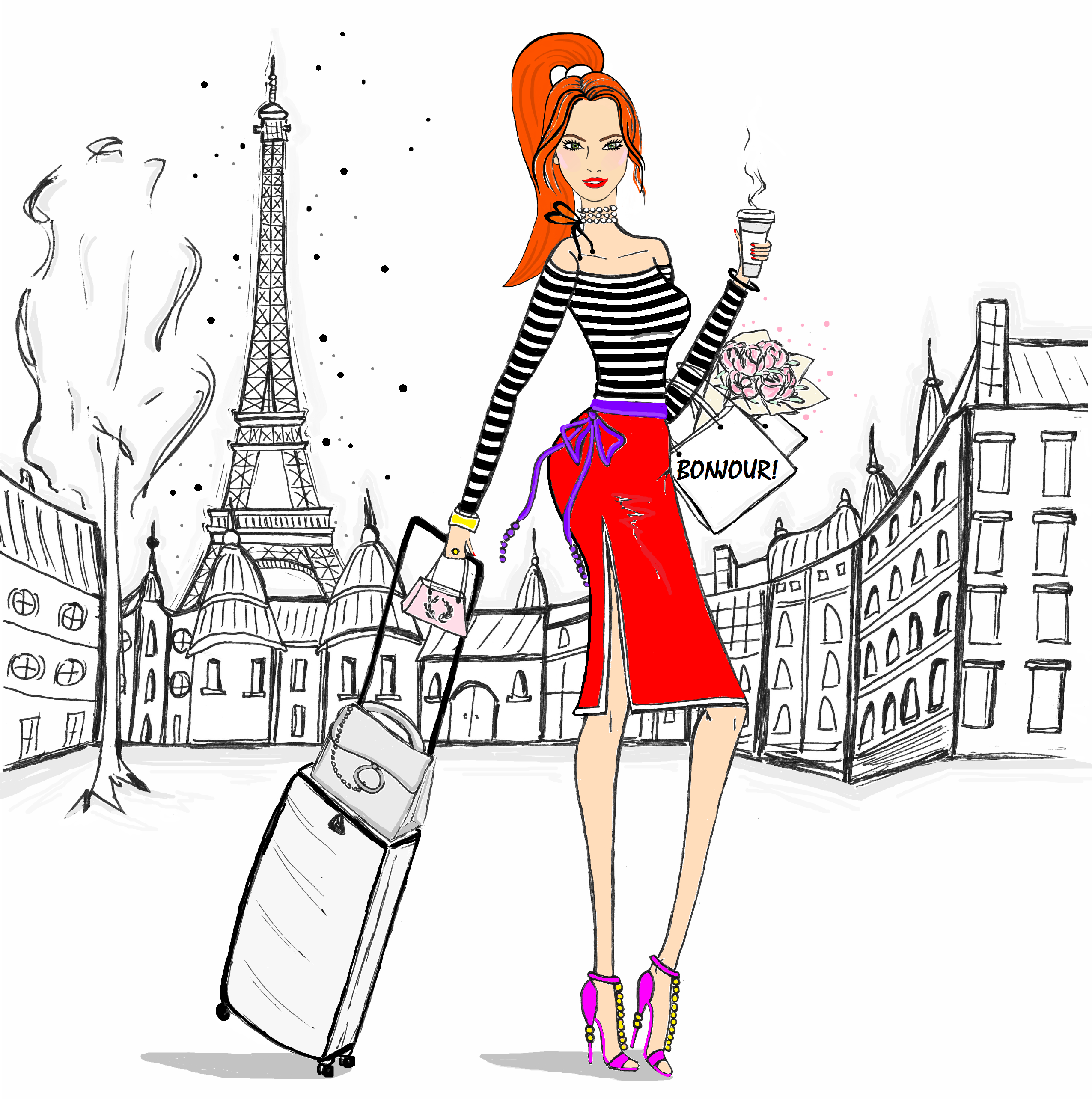 Paris fashion Illustration